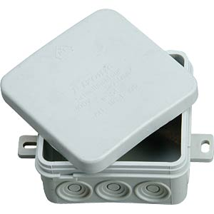 Junction box, IP54 wet room, 75 x 75 x 35 mm F-TRONIC E125K
