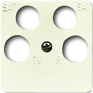 2 SAT+TV+radio central plate for DURO 2000-SI BUSCH-JAEGER 1743/10-04-212