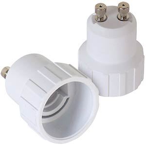 Light bulb adapter GU10-E14, set of 2 FREI