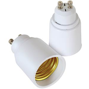 Light bulb adapter GU10-E27, set of 2 FREI