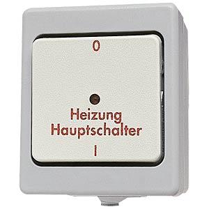 Main heating switch, IP 44, 10 A/250 V~ KOPP 5673.4800.9