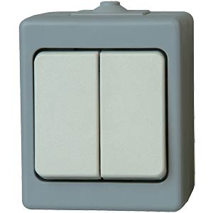 Series switch, wet room IP 44, surface-mounted, grey KOPP 5635.4800.1