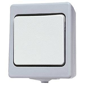 Button, wet room IP 44, surface-mounted, grey KOPP 5643.4800.6