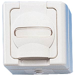One-way wet room socket, with hinged lid KOPP 1033.0200.7