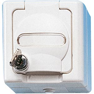 One-way wet room socket, with lock KOPP 1034.0200.0
