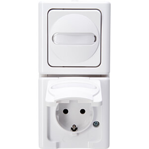 Two-way wet room socket, vertical KOPP 1314.0200.9