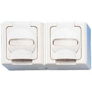 Two-way wet room socket, horizontal KOPP 1312.0200.3