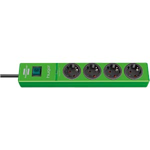 Power strip, four outlets, green, surge protection BRENNENSTUHL 1150610394