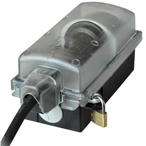 Lockable outdoor socket, IP44 rated, straight INTER BÄR GMBH 9015-001.01