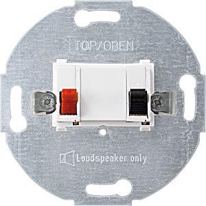 System M, Lautsprecheranschluss, polarweiß, glänzend MERTEN 466919