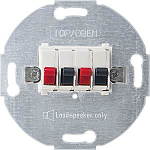 System M, Lautsprecheranschluss, polarweiß, glänzend MERTEN 467019