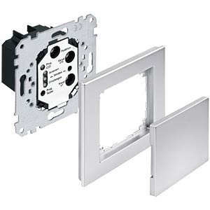 M-PLAN metal frame, one-way, platinum silver MERTEN