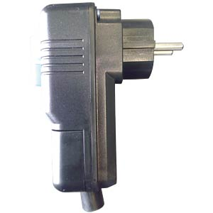Personenschutz-Stecker, IP44, 16 A, 250 V, schwarz FREI