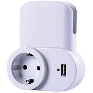 Power socket adapter with USB charger FREI 00137001