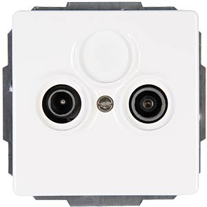 Antenna socket, two-way VENICE pure white KOPP 924729085