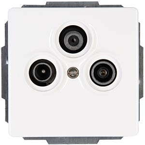 Antenna socket, three-way VENICE pure white KOPP 924829088