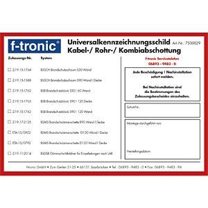 Universalkennzeichnungsschild F-TRONIC BSKS