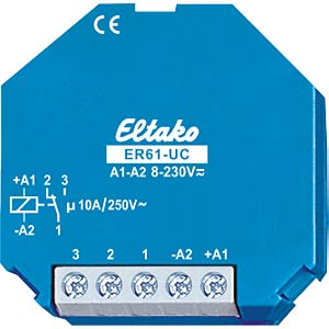 Switching relay - 1 changeover contact, 250 V/16 A ELTAKO ER61-UC