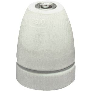 Lamp holder, porcelain, socket E27 HEITRONIC 46070