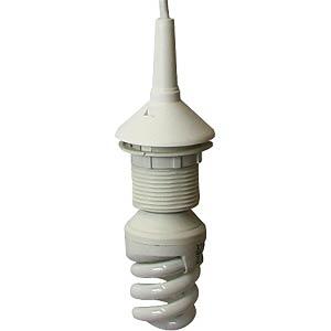 Lampeneinzelpendel mit Fassung E27, weiß HEITRONIC