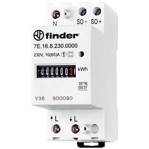 Elektronischer Energiezähler 1 Phase 10 (65) A FINDER 7E.16.8.230.0010