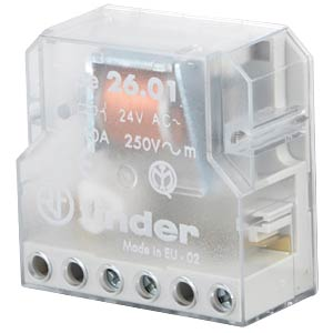 Impulse switch, 1 x one, 250 V/10 A, 24 V FINDER 26.01.8.024