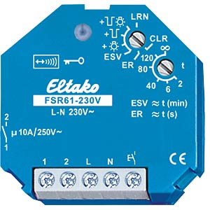 Impulse switch - wireless, 1 NO contact, 250 V/10 A, 230 V ELTAKO FSR61-230V