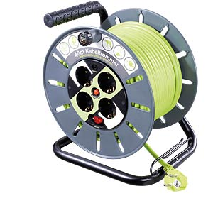 Cable reel, 40m, 4 x earthed socket GOOBAY 51264