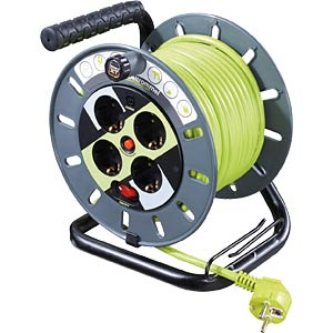 Cable reel, 25 m, 4 x earthed socket GOOBAY 51268