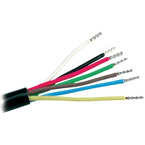 PVC automotive cable, 7 x 1.0 mm², 10 m FREI