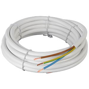 Flexible cable, 3 x 1.5 mm², white, 50-m coil FREI