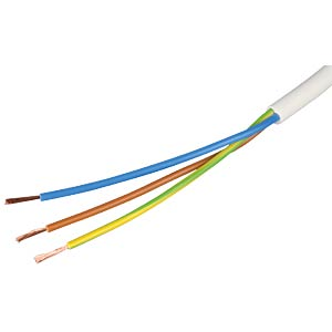 Flexible cable, 3 x 1.5 mm², white, 25-m coil FREI