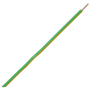50 m jumper/control wire, 1x1.5 mm², green-yellow FREI