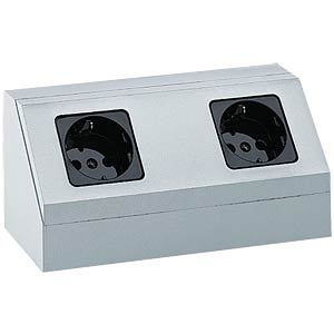 Double socket, silver HEITRONIC 28721