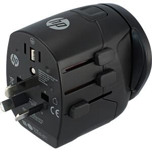 Universal Reiseadapter, mit integriertem USB Ladegerät HEWLETT PACKARD 2UX37AA#ABB