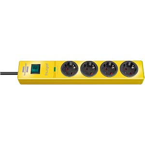 Power strip, four outlets, yellow, surge protection BRENNENSTUHL 1150610364