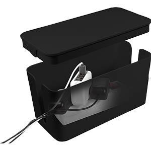 Kabelbox, 235 x 115 x 120 mm, zwart LOGILINK KAB0060
