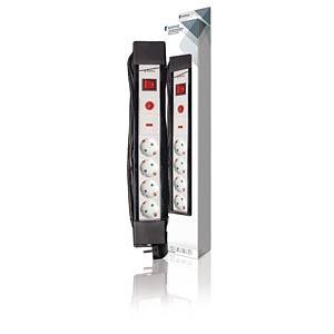 KN ES430SPF1PRO - Steckdosenleiste 4-fach 3 m Schwarz, Überspannungsschutz