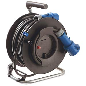CEE IP44 camping and maritime reel, 25 m WEINGÄRTNER 12270