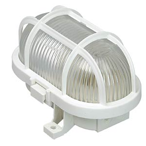 Lamp with plastic cage, 60 W, white AS SCHWABE 56112