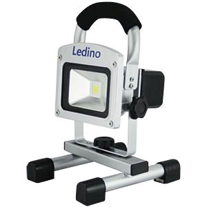 LED battery-powered floodlight, 5 W, Li-ion battery 2.2 Ah, silv LEDINO LED-FLAH0502M