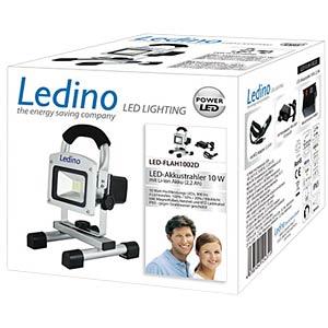LED Akkustrahler 10W Li-Ion Akku 2.2Ah, dimm LEDINO LED-FLAH1002D