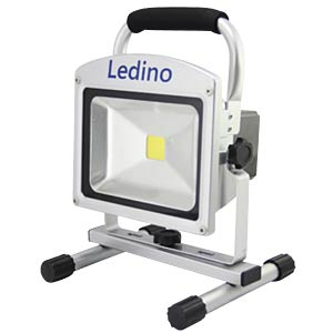LED battery-powered floodlight, 20W, Li-ion battery 8.8Ah, dim LEDINO FLAH2009D