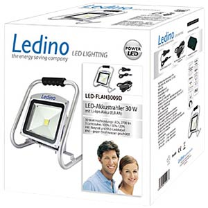 LED battery-powered floodlight, 30 W, Li-ion battery 6,6 Ah, dim LEDINO LED_FLAH3009D