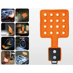 LED-Lampe Flexi-Pad, 3 x AA 1,5 V, orange KH SECURITY 300134