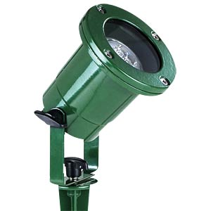Garden lamp, GU10, green, IP68 TELESOUND 46-29414