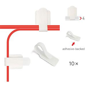 Label-the-cable, Kabelhalter für Wand und Schreibtisch, weiß, 10 LABEL THE CABLE LTC 3120