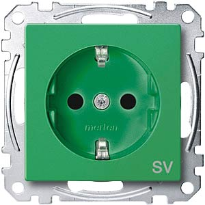 EL SM 23000304 - System M, Steckdose - SV, CEE 7/3 - Typ F, grün