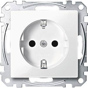 Socket insert — System M, polar white, glossy MERTEN MEG2300-0319