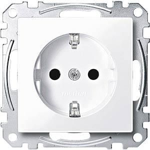 Socket insert — System M, active white, glossy MERTEN MEG2300-0325